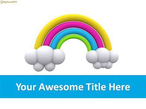 Free Rainbow Powerpoint Template Download Free Powerpoint Ppt Powerpoint Rainbow Template