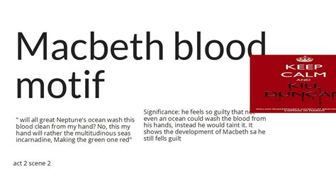 motifs in macbeth with quotes macbeth blood motif