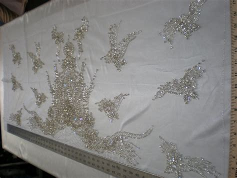 white beaded lace fabric quality white bridal beaded lace by fabric universe