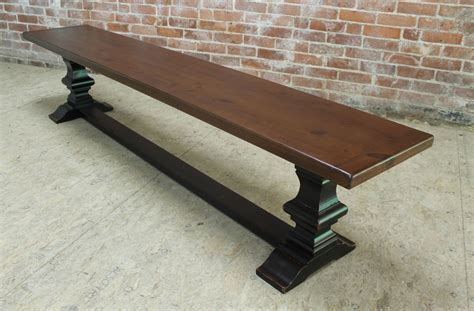 wood her bench venetian trestle table with matching bench lake and