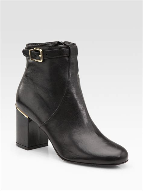 robert clergerie buckle ankle boot in black lyst