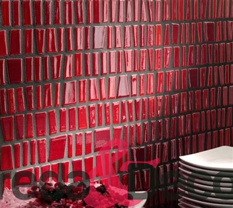 mosaico rosso bagno mosaico in vetro rosso