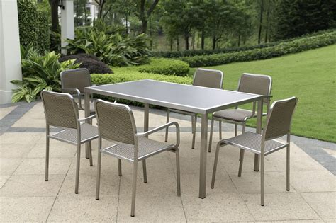 outdoor stainless steel furniture china outdoor furniture verge stainless steel dining set china outdoor furniture garden furniture