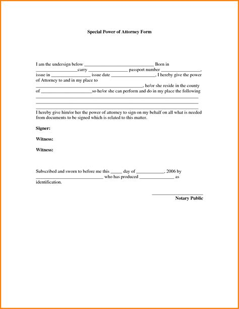 Power Of Attorney Cover Letter Power Of Attorney Form Power Of Attorney Power Of Attorney Sle Durable Power Printable