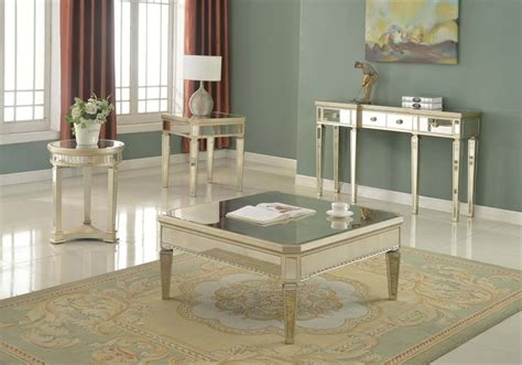 mirrored coffee table set mirror coffee table set t1830