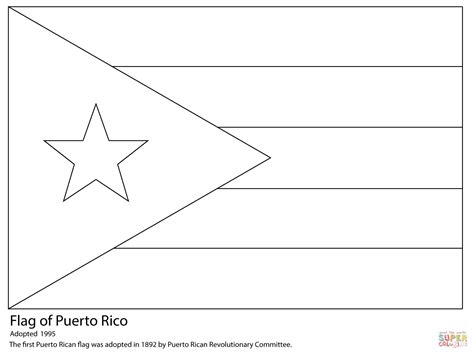 Cuban Flag Coloring Page Cuban Flag Coloring Page
