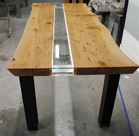 tavoli in legno e vetro tavolo legno e vetro illuminato