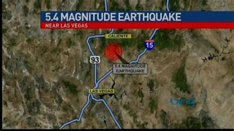 earthquake las vegas las vegas earthquake one news page video