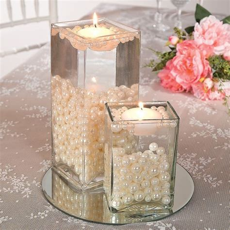 candle table centerpieces best 25 pearl centerpiece ideas on lace vase