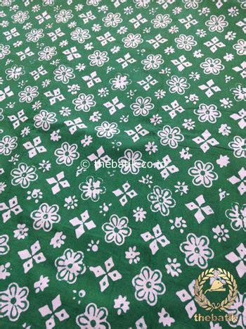 Batik Motif Bintang jual bahan kain batik kelengan ceplok bintang hijau