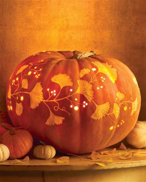 martha stewart pumpkin templates vine and leaf carved pumpkin centerpiece martha stewart