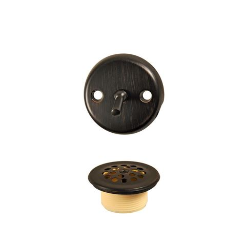 danco trip lever tub drain kit in rubbed bronze 10580
