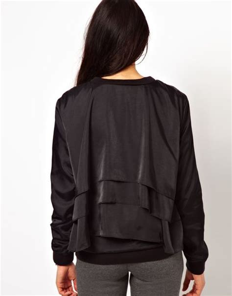 Jaket Bomber Adidas Performance adidas bomber jacket in black lyst
