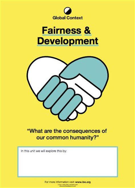 fairness  development global context posters  chapater pp myp  dp international