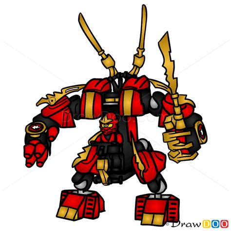 tutorial lego ninjago how to draw fire mech lego ninjago