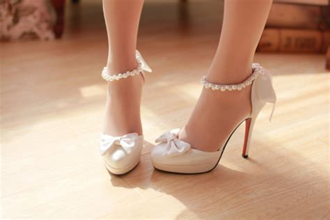 high heel shoes with bows white heels with bow qu heel