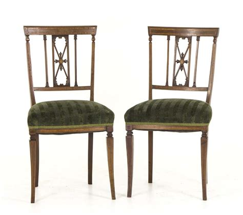 vintage chair rentals vancouver antique side chairs mahogany satinwood inlay