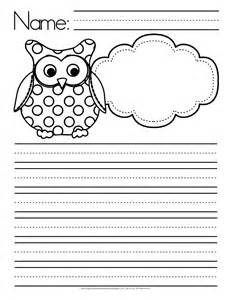 worksheet templates for teachers owl themed writing paper free flapjack educational