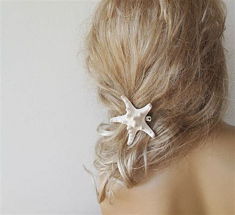 starfish hair pins wedding starfish hair accessories starfish pins wedding