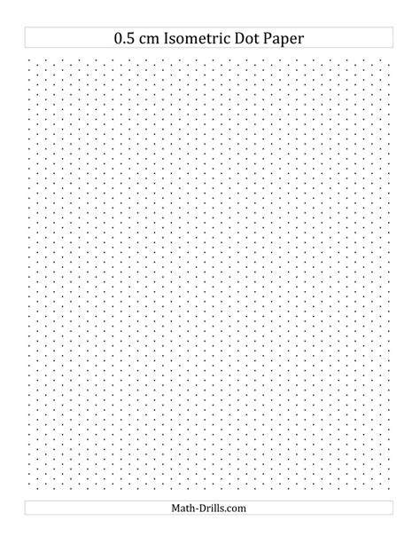 printable triangular dot paper free 0 5 cm isometric dot paper portrait a