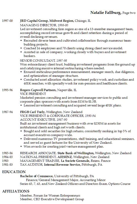Sample Resume For Internal Auditor by Resume Senior Executive Financial Services Technology