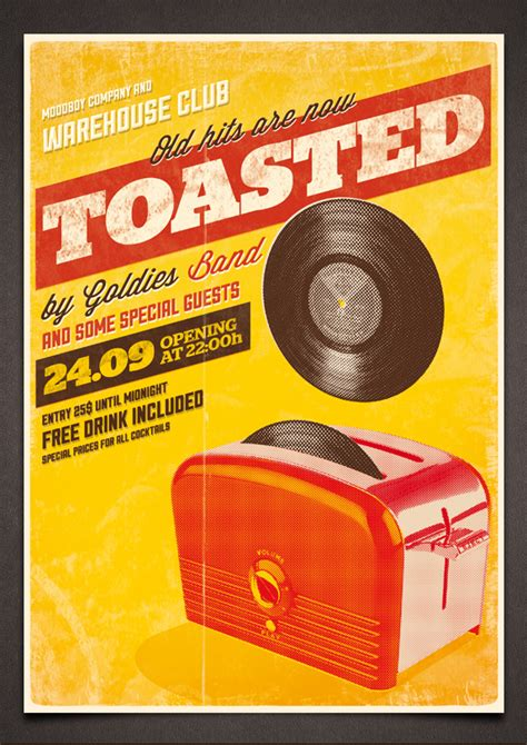 toasted vintage poster psd template by moodboy on deviantart