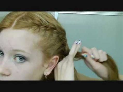 how to braid your own hair youtube how to french braid your own hair in two parts neatly