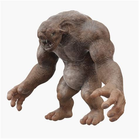 3d Troll cave troll creature 3d model turbosquid 1196015