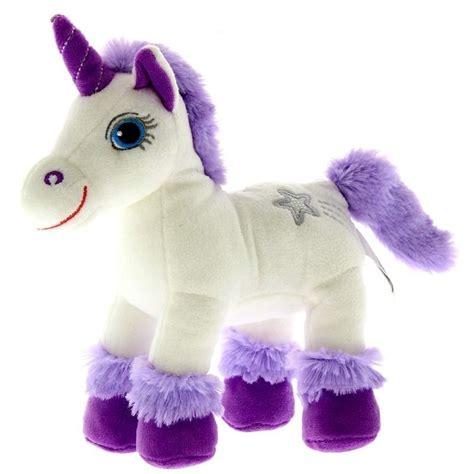 imagenes de unicornios de juguete unicornio de peluche blanco y lila con sonido