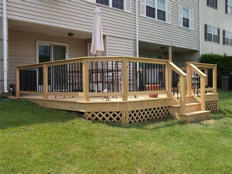outdoor deck railing spindles doherty house wood deck