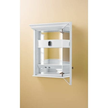 robern fairhaven medicine cabinet robern mt20d4fhw white 19 1 4 quot single door mirrored