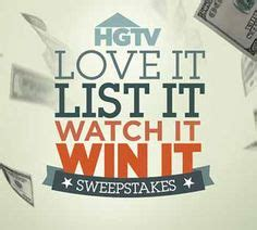 Hgtv 25 000 Sweepstakes - love it or list it on pinterest hgtv jillian harris and television