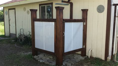 how to build an outdoor bathroom building an outdoor shower youtube