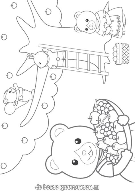 Calico Critters Coloring Page Sylvanian Families003 Calico Critters Coloring Pages