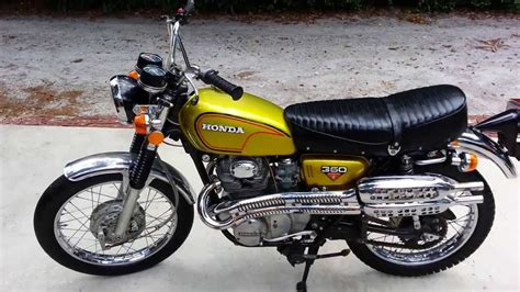 gold 1972 honda cl350 k4 scrambler walk around
