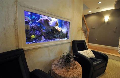 neutral cool living room idea aquarium jpg 1021 215 736 47 cool finished basement ideas design pictures