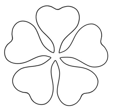 pattern of a flower to cut out flower petal cut out pattern clipart best