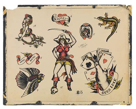 tattoo flash vintage vintage tattoo flash