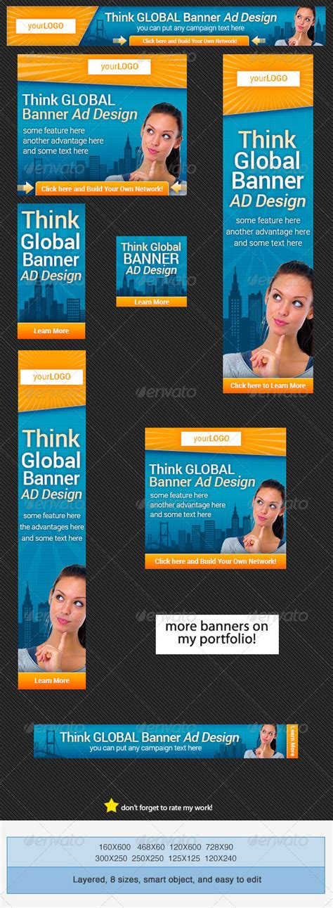 Global Banners Set Graphicriver Banner Ad Templates