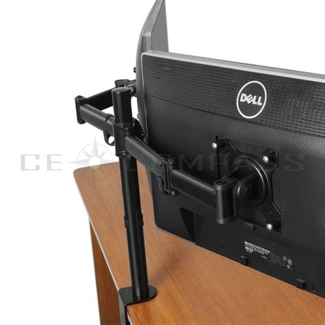 non vesa monitor desk mount dual monitor mount desk stand adjustable arm tilt swivel