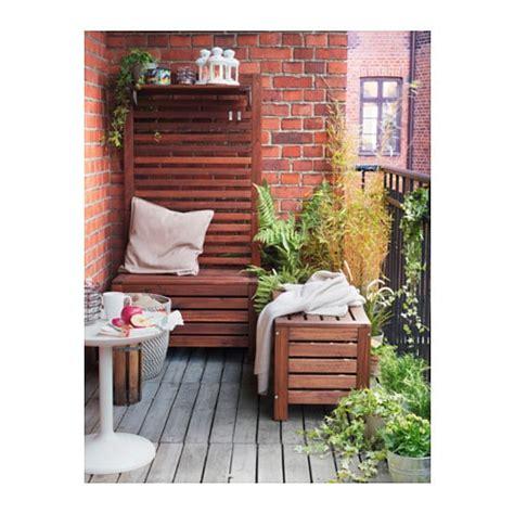 ikea outdoor 196 pplar 214 storage bench outdoor brown stained 80x41 cm ikea