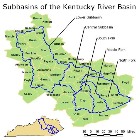 kentucky map with rivers and lakes kentucky river map
