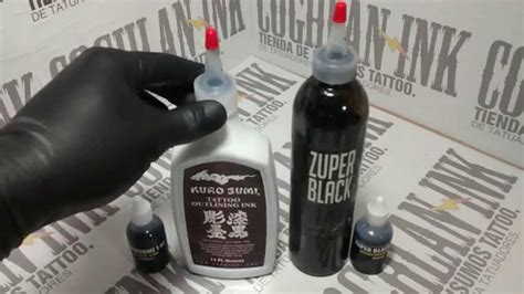 how to make black tattoo ink tinta kuro sumi para lineas y zuper black para