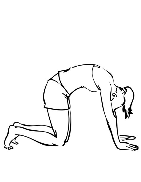 coloring pages yoga poses cat pose coloring page handipoints