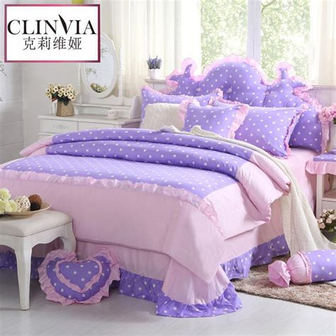 womens bedding princess style flower print bedding set 4pcs 100 cotton