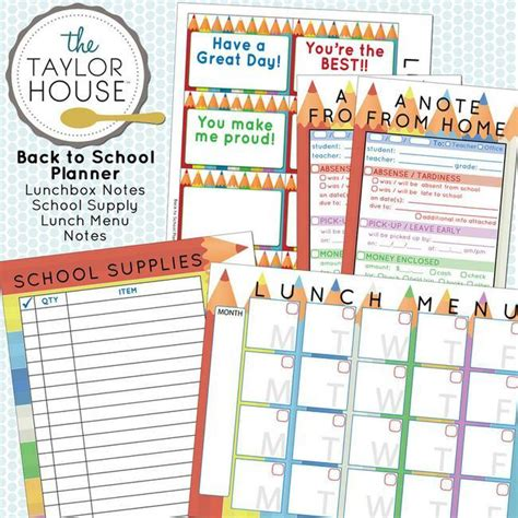 back to school lunch box planner organized 31 21 free labels to get you organized printables tip junkie