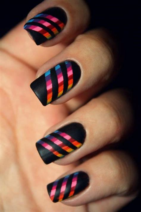 easy nail art stripes top 10 striped nail designs top inspired