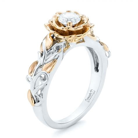 Two Tone Gold Engagement Rings - gold and engagement ring 102584