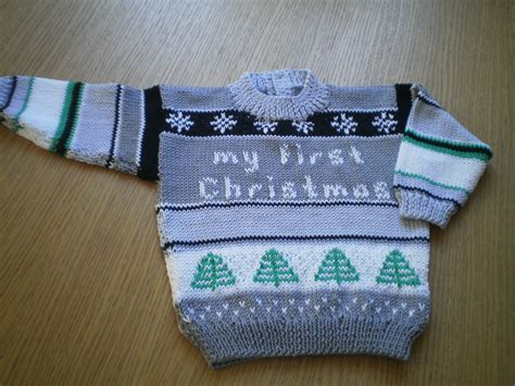 pattern for xmas jumper pdf knitting pattern for baby christmas jumper by angela