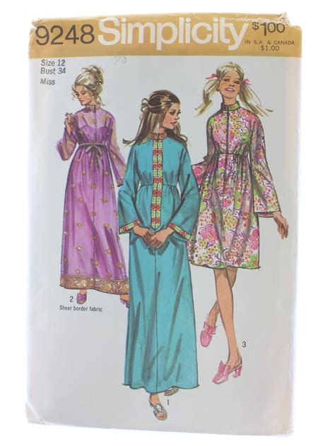 no pattern kimono 1970 s sewing pattern simplicity pattern no 9248 70s